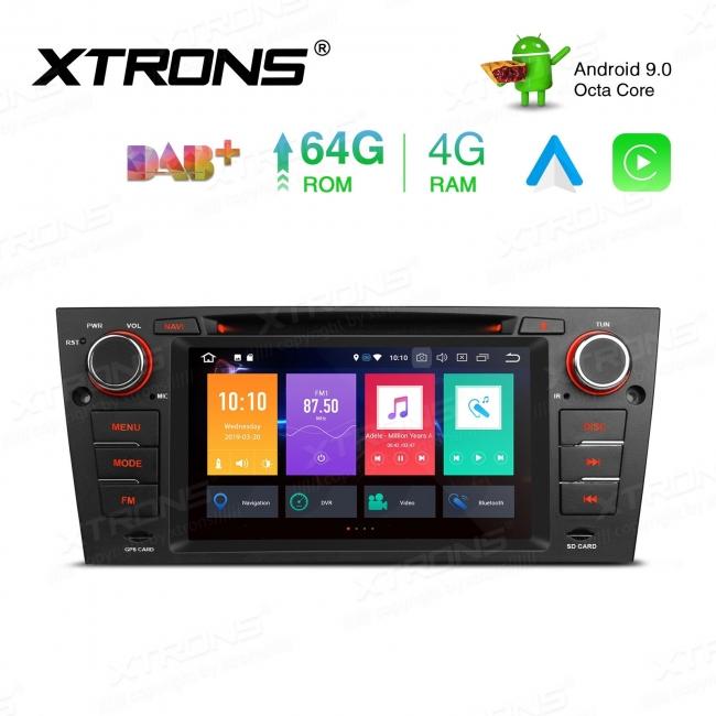 Навигация двоен дин за BMW E90 с Android 9.0, PBX7990B, WiFi, GPS, 7 инча