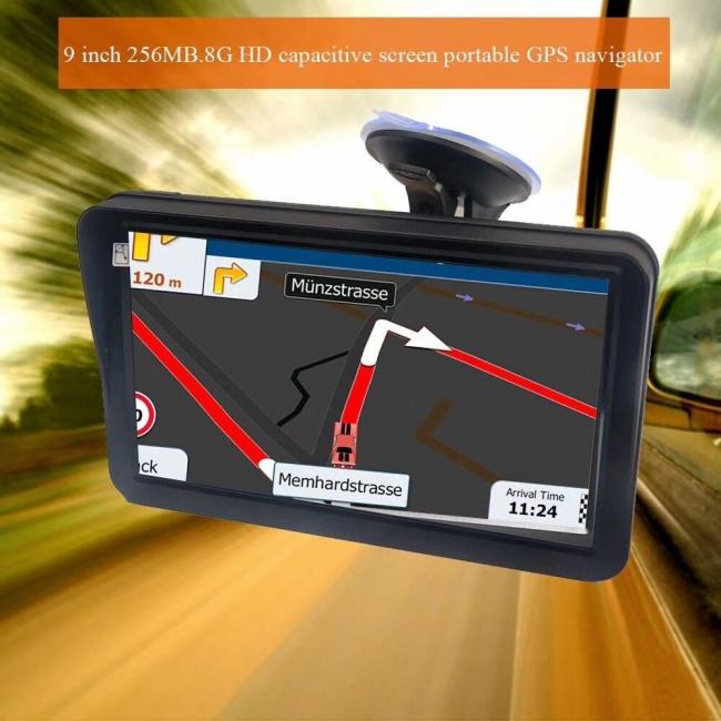 GPS навигация за камион с 9 инчов екран MEDIATEK E9, 256MB RAM, ВГРАДЕН СЕННИК