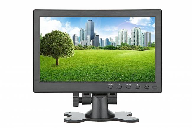 TFT LCD 10.1 инчов монитор за връзка с камера за паркиране, DVD, VCR, CCTV с 2 видео входа