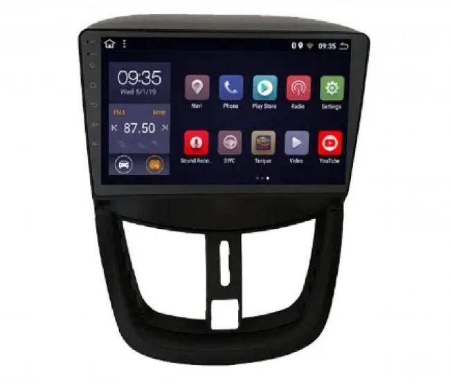 ATZ 4-ядрена навигация двоен дин за Peugeot 207, Android 8.1, 9 инча, 1GB, 16GB ROM