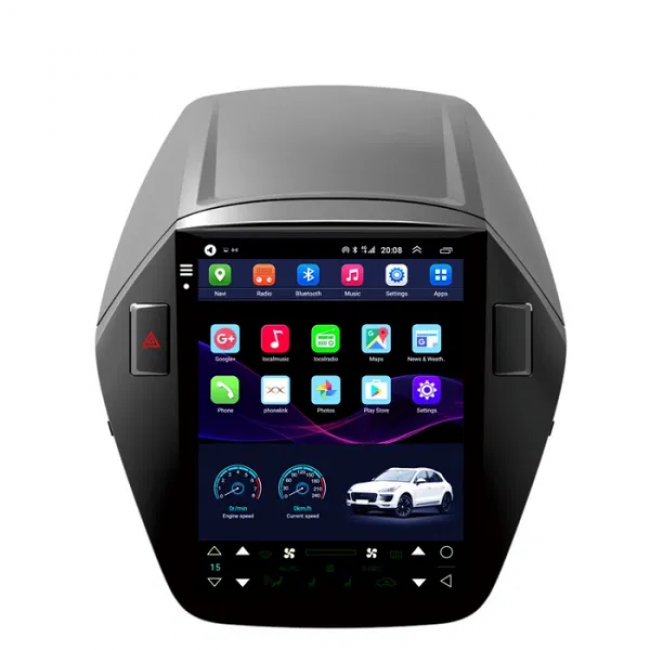 4-ядрена вертикална навигация ATZ за Hyundai ix35, Android 10, 1GB RAM, 16GB