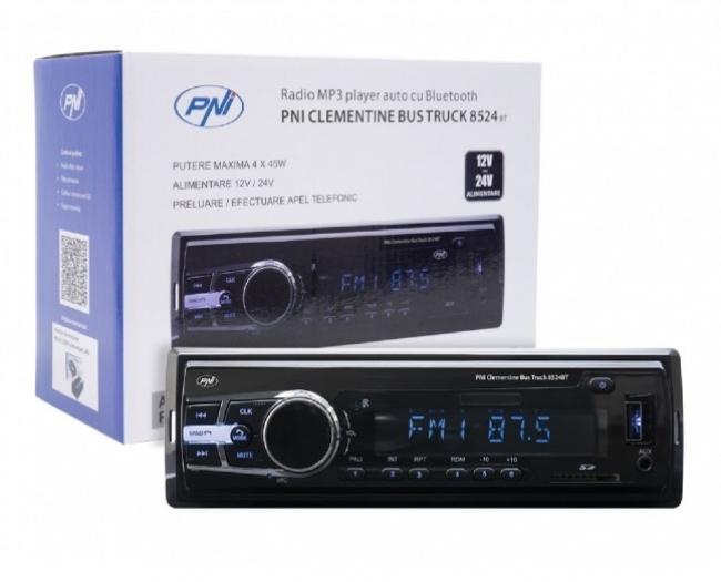 Аудио плеър PNI Clementine 8524BT за кола и камион с SD, 12V-24V, 4x45W