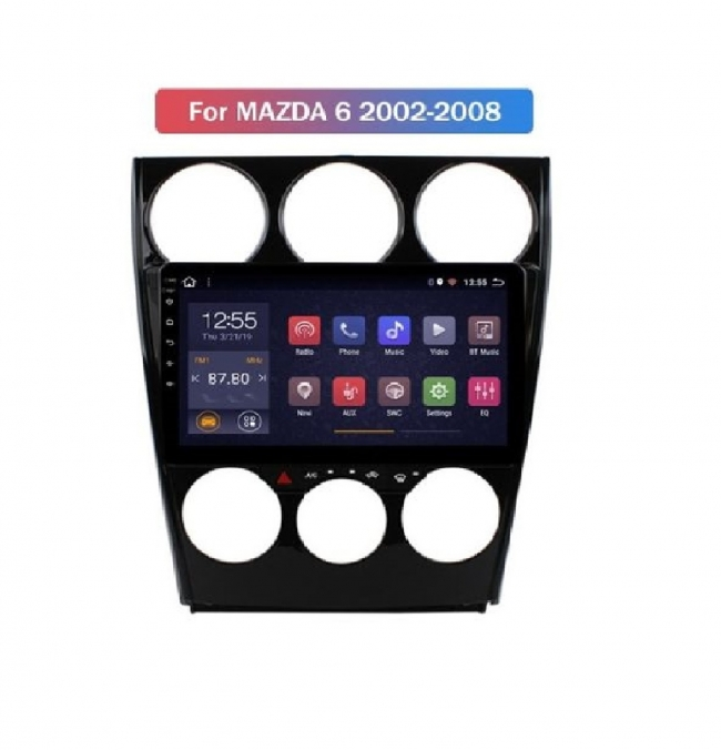 8-ядрена навигация ATZ двоен дин за Mazda 6, Android 10, GPS, 2GB RAM, 32GB ROM