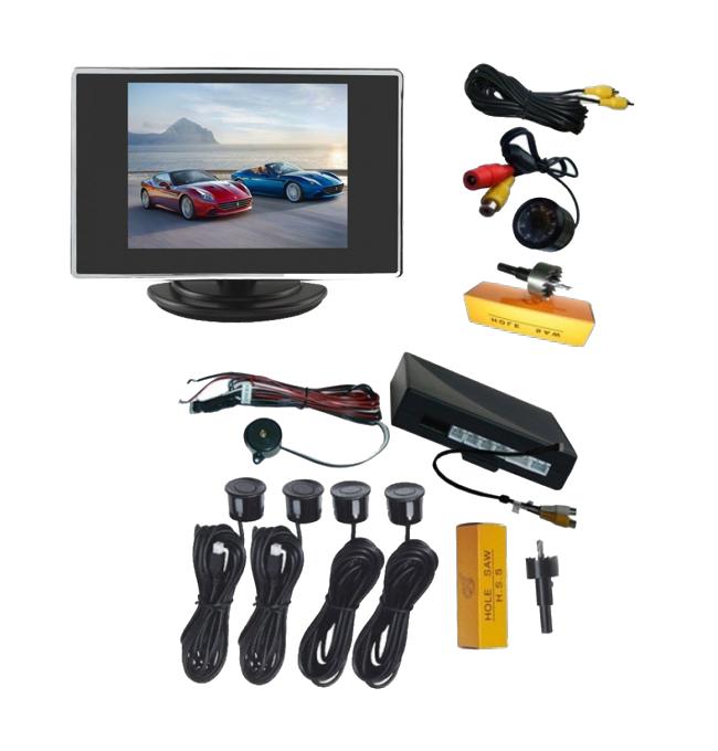 """Парктроник система + камера за задно виждане + монитор 3.5"""" AT 35PARCAM"""