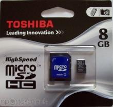 Micro SD карта TOSHIBA 8GB