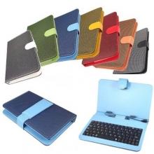 Качествен калъф с клавиатура за 7 инча таблети - micro USB