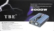 Инвертор на напрежение 12V - 220V - 2000W