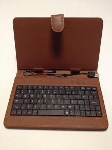 "Калъф с клавиатура за таблет 9"" - USB - КАФЯВ"