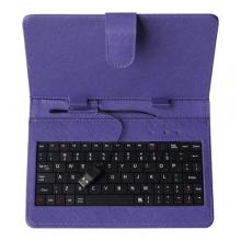 """Калъф с клавиатура за таблет 9"""" - USB - ЛИЛАВ"""