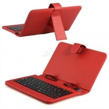 """Калъф с клавиатура за таблет 9"""" - USB - червен"""