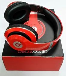 Нов модел! Аудио слушалки Beats by Dre STUDIO HD ( Реплика ) - ЧЕРВЕНИ