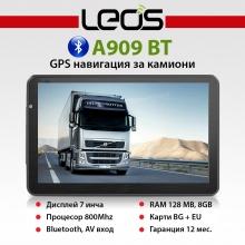 GPS навигация за камиони Leos A909BT TRUCK - 7 инча, 800MHZ, Bluetooth, 8GB