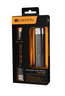 Външна акумулаторна батерия CANYON CNE-CPB26B - 2600mAh