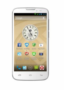 Смартфон PRESTIGIO MultiPhone PSP5517DUO - 5 инча, IPS, Quad core - БЯЛ