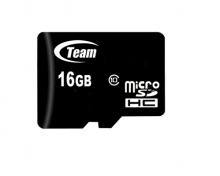 КАРТА ПАМЕТ TEAM 16GB SDHC Micro class 10, с преходник за SD карта