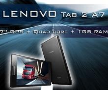 GPS Таблет Lenovo Tab 2 A7-30 - 7 инча, IPS, Четириядрен, 16GB, 2 програми за камион