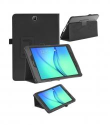 Черен кожен калъф за Samsung Galaxy Tab S2 T715 - 8 инча ПАПКА + ПИСАЛКА