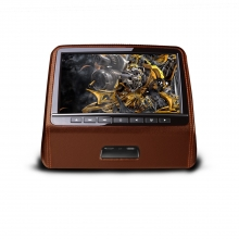 Подглавник за кола HD9PCHBrown 9 инча с дигитален HD TFT Монитор, HDMI порт, DVD, USB, SD, Игри