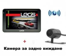 GPS навигация Leos M6BT + камера за задно виждане БОНУС