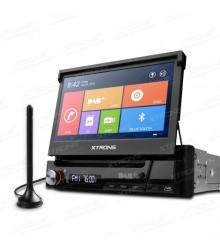 Универсална мултимедия единичен дин D713GDAB WinCE, DVD, GPS, 7 инча