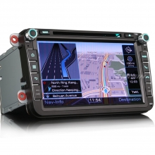 Mултимедия двоен дин ES8405V за VW PASSAT, TOURAN,CADDY,GOLF,Multivan T5, GPS, 8 инча