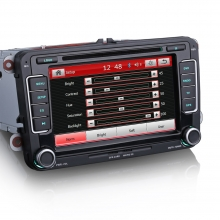 Мултимедия двоен дин  ES7298C за VW, Seat, Skoda GPS, DVD, 7 инча