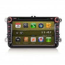 Мултимедия двоен дин ES9711V за VW Passat, Caddy, Golf 5/6, Touran, GPS, WinCE, 8 инча