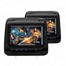 2 броя Монитор за подглавник  HD729B DVD, USB, FM transmiter, 7 инча
