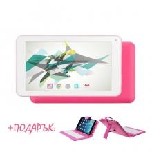 Розов таблет QuadColor Pink - 7 инча, 16GB + РОЗОВА КЛАВИАТУРА