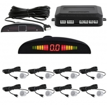 Парктроник с 8 датчика LCD дисплей и звукова сигнализация - СИВ