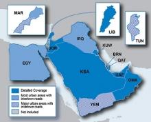 Карта за Garmin City Navigator Близкия Изток и Северна Африка NT