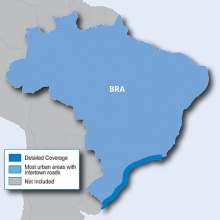 Карта за Garmin City Navigator Бразилия NT
