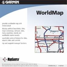 Карта за Garmin MapSource WorldMap с Trip & Waypoint Manager