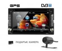 6.2 инча универсална мултимедия Double Din 6516, DVD, GPS, TV за кола GPS + цифрова тв + камера