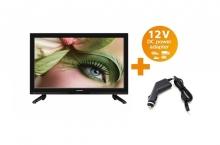 Портативен телевизор с цифров тунер LED LCD Crown 23 инчa 12-220V