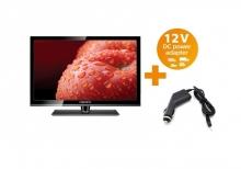 Портативен телевизор с цифров тунер LED LCD Crown 16 инчa 12-220V