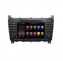 Вградена навигация за Mercedes W203 W209 с Android 7.1 BZ0704 , GPS, DVD, 7 инча