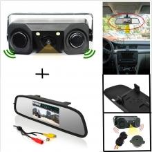 3в1 Огледало + камера за задно виждане + парктроник AT BV-4300-02