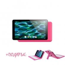 Таблет в розов цвят модел Rubik Pink - 7 инча, 8GB, Четириядрен + РОЗОВА КЛАВИАТУРА