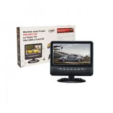Монитор 9 инча PNI NS911D, аналогов TV тунер, USB слот и SD карта, AV вход