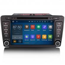 Навигация двоен дин за Skoda Ocatavia II с Android N SK01A GPS, DVD, 7 инча