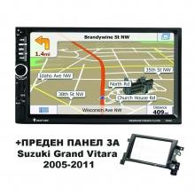 Навигация двоен дин AT EMS02 GPS, MP5 + ПРЕДЕН ПАНЕЛ за Suzuki Grand Vitara (05-11)