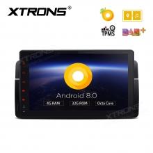 Навигация двоен дин за BMW E46 с Android 8.0, PE9846BPL, WiFi, GPS, 9 инча