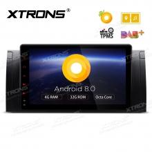 Навигация двоен дин за BMW E53 / X5 / E39 с Android 8.0, PE9853BPL, WiFi, GPS, 9 инча