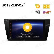 Навигация двоен дин за BMW E90 с Android 8.0, PE9890BPL, WiFi, GPS, 9 инча