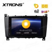 Навигация двоен дин за Mercedes Benz W209 W203 W463 с Android 8.0, PE88M209PL, WiFi, GPS, 7 инча