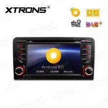 Навигация двоен дин за AUDI A3 с Android 8.0, PB78AA3P, WiFi, GPS, 7 инча