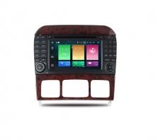 Навигация двоен дин за Mercedes S-Class W220 W215 с Android 8.0, MKD-M703, WiFi, GPS, 7 инча