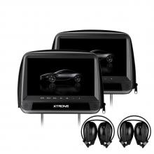 Подглавници с монитор за кола HD923D с DVD, HDMI вход, 9 инча + КАЛЪФ