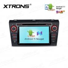 Навигация двоен дин за MAZDA 3 (2004-2009) с Android 7.1 PCD77M3M, GPS, DVD, 7 инча